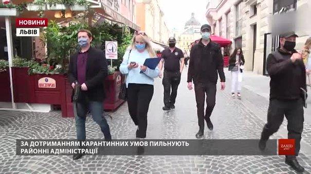 У Львові перевірили заклади на дотримання карантинних обмежень