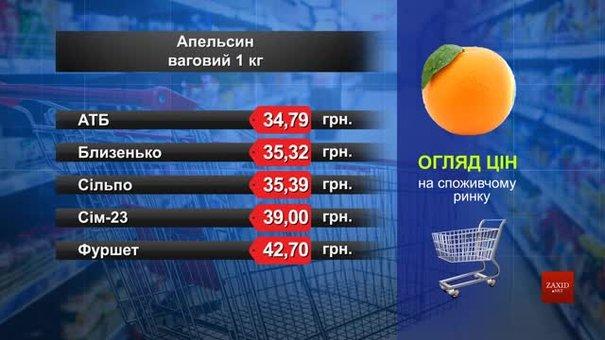 Апельсин. Огляд цін у львівських супермаркетах за 9  червня