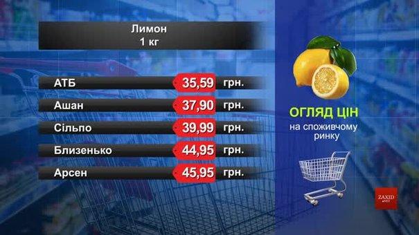 Лимон. Огляд цін у львівських супермаркетах за 19 червня