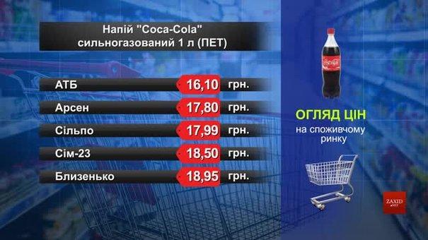 Coca-Cola. Огляд цін у львівських супермаркетах за 25 червня