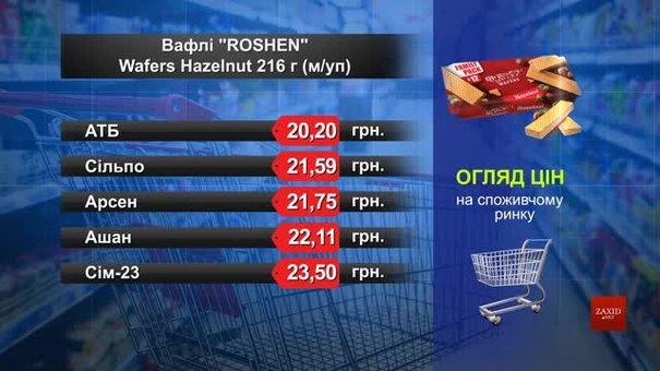 Вафлі Roshen. Огляд цін у львівських супермаркетах за 26 червня