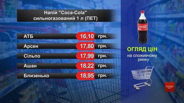 Coca-Cola. Огляд цін у львівських супермаркетах за 13 липня