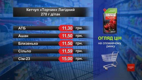 Кетчуп «Лагідний» Торчин. Огляд цін у львівських супермаркетах за 15 липня