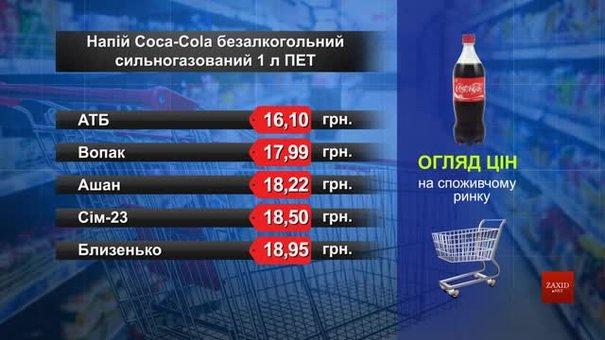Coca-Cola. Огляд цін у львівських супермаркетах за 17 липня