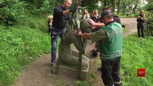 Кам'яна скульптура з львівського парку «Високий замок» стане експонатом виставки Павла Гудімова
