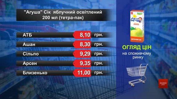 Сік «Агуша». Огляд цін у львівських супермаркетах за 22 липня