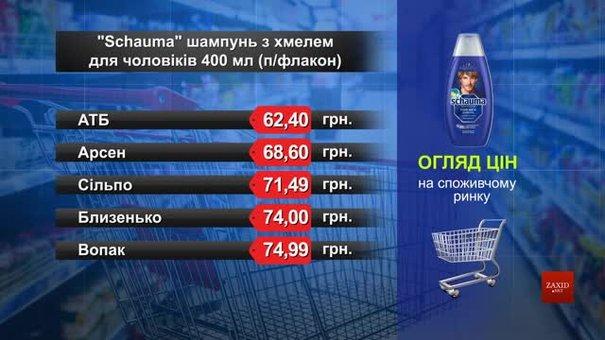 Шампуни Schauma. Огляд цін у львівських супермаркетах за 4 серпня