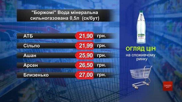 Мінеральна вода «Боржомі». Огляд цін у львівських супермаркетах за 18 серпня
