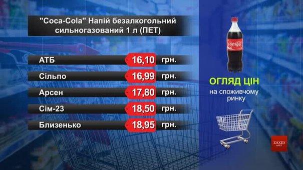 Coca-Cola. Огляд цін у львівських супермаркетах за 25 серпня