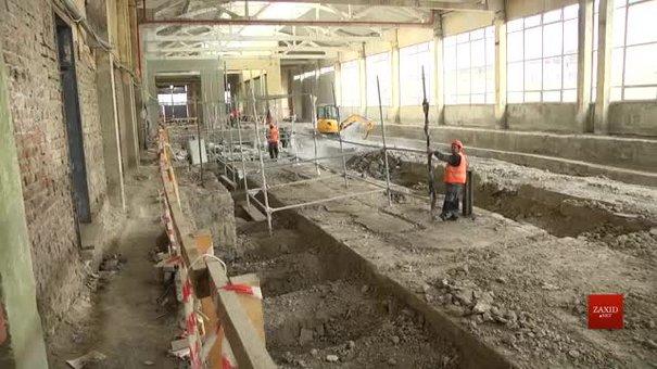На вул. Промисловій у Львові триває реконструкція трамвайного депо