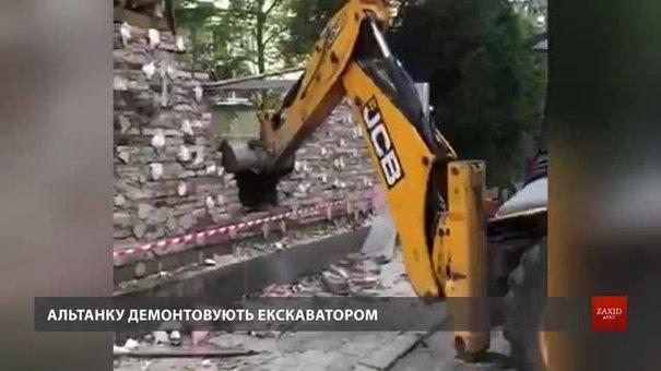 Самобуд кандидата у мери Львова Назарія Брезіцького знесли