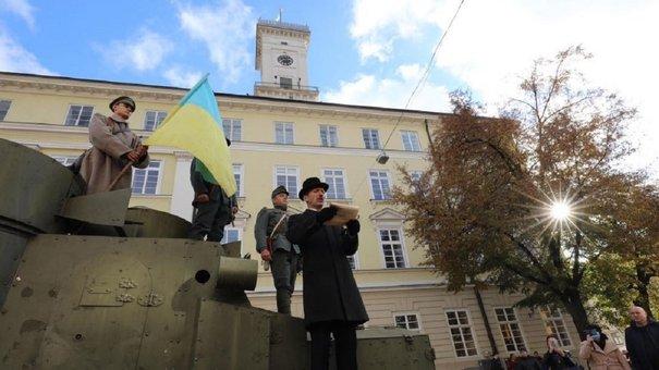 На площі Ринок реконструювали бої Української галицької армії