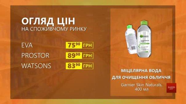 Огляд цін на міцелярну воду для чищення обличчя Garnier Skin Naturals у мережевих магазинах