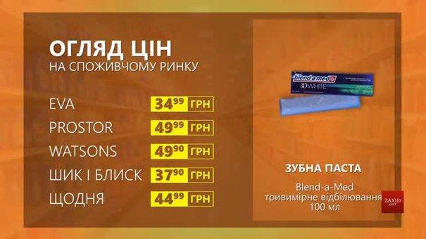 Огляд цін на зубну пасту Blend-a-med у мережевих магазинах