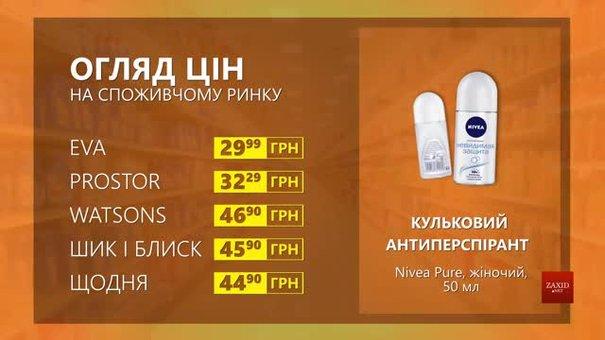 Огляд цін на кульковий антиперспірант Nivea Pure у мережевих магазинах