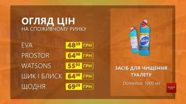 Огляд цін на засіб для чищення туалету Domestos у мережевих магазинах