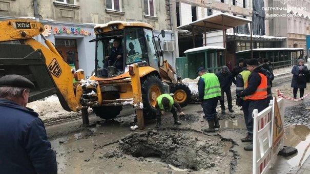 Через прорив водогону центр Львова залишився без водопостачання