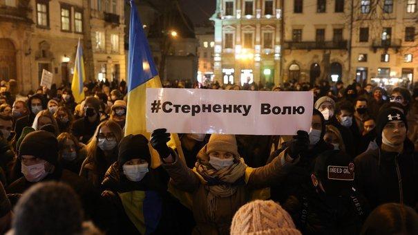 На площі Ринок у Львові відбулася акція на підтримку Сергія Стерненка