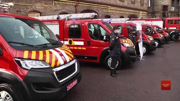 Рятувальники Львівщини отримали три автомобілі першої допомоги