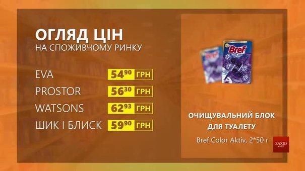 Огляд цін на очищувальний блок для туалету Bref Color Aktiv у мережевих магазинах