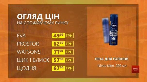 Огляд цін на піну для гоління Nivea Men у мережевих магазинах