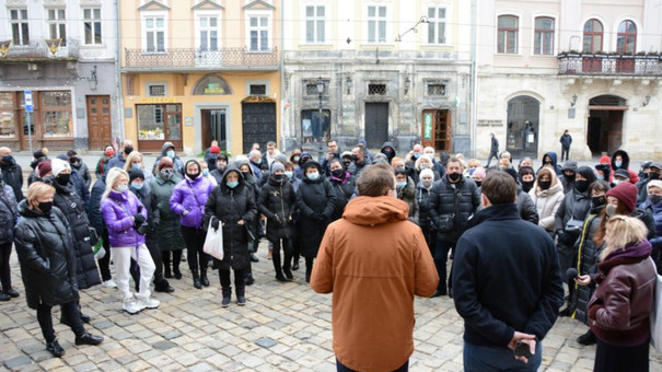 Львівські підприємці пікетували мерію з вимогою послабити карантин