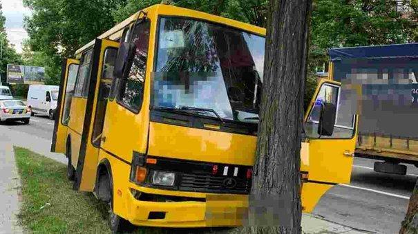 Водій маршрутки, яка врізалась у дерево на Левандівці, не працює в «Міра і К»