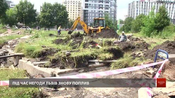 Львівські комунальники ліквідовують наслідки негоди