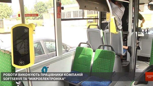 Валідатори для е-квитка встановили вже у 185 автобусах, тролейбусах і трамваях Львова