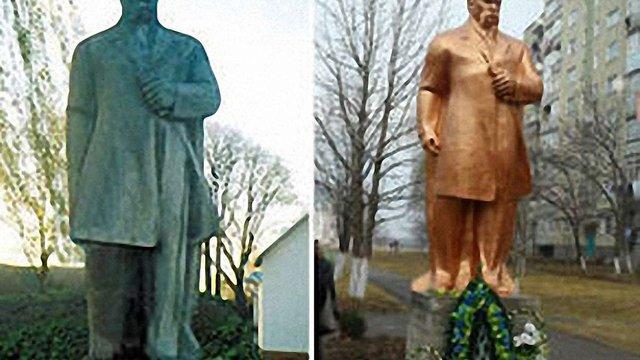 Зниклий на Львівщині пам'ятник Шевченку знайшли на Буковині