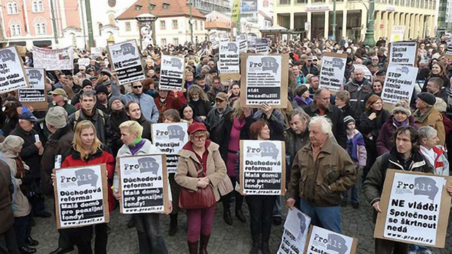 Мешканці Праги вийшли на антиурядовий марш