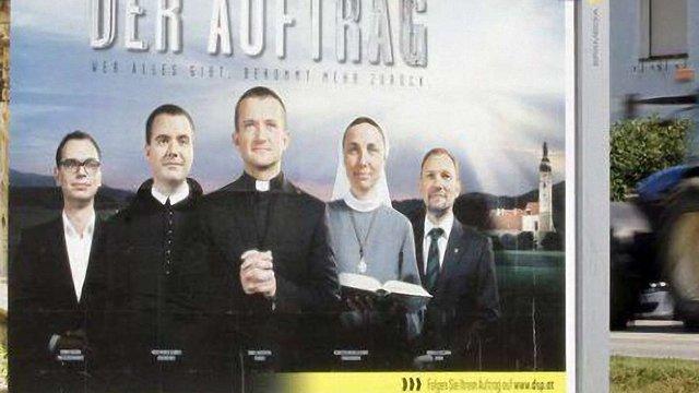 В Австрії священицьку працю популяризують на білбордах