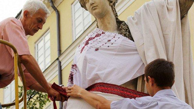 Як відзначають День вишиванки у Львові