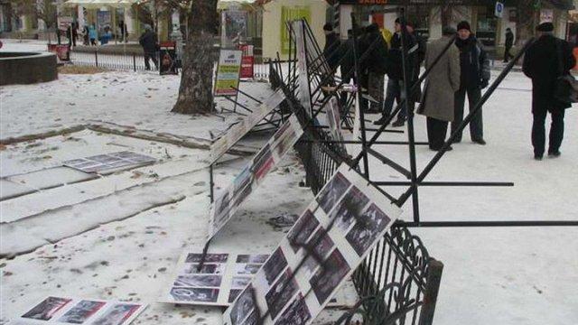 Кримські татари розгромили виставку, присвячену Сталіну