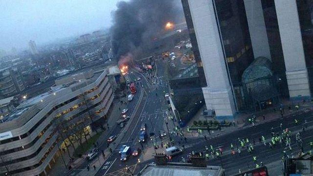 У центрі Лондона розбився вертоліт