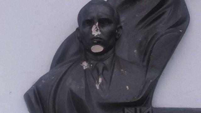 На Львівщині пошкодили пам'ятник Бандері
