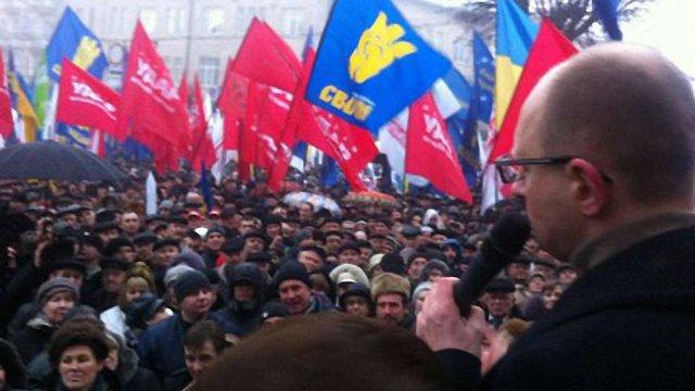 Міліція нарахувала вшестеро менше учасників мітингу в Тернополі