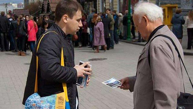 У Сумах роздали 6 тис. листівок «Зустрінемось у Львові»