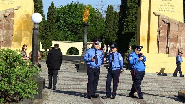 На Пагорб слави у Львові підтягують правоохоронців. Фото