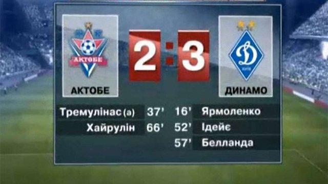 Ліга Європи: «Динамо» обіграло «Актобе» з рахунком 3:2