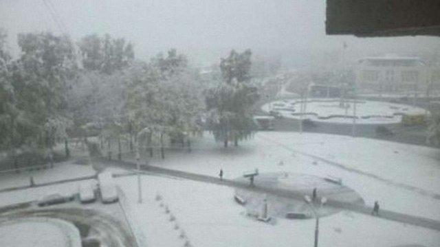 У Москві випав сніг