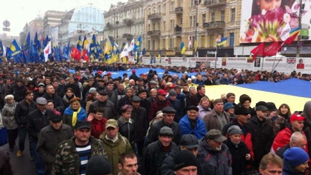 На Євромайдані у Києві зібралося понад 100 тис. людей