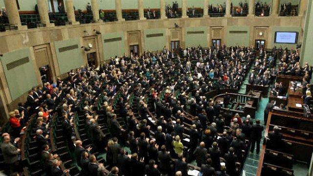 Парламент Польщі висловив підтримку українським мітингувальникам