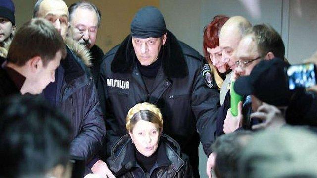 Юлія Тимошенко вийшла на волю (фото)
