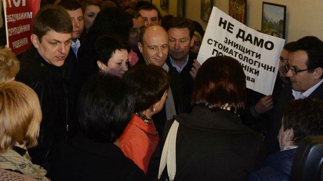 У Львові стоматологи знову протестували проти госпрозрахунку