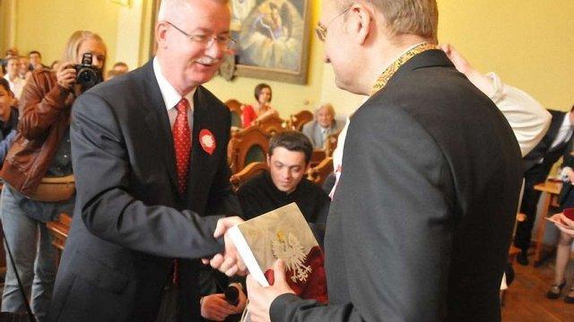 Генконсула Польщі нагородили «Золотим Гербом Львова»