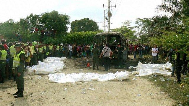 У Колумбії згорів автобус з 32 дітьми