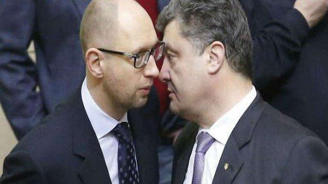 Порошенко хоче залишити Яценюка на посаді прем'єра