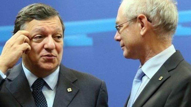 Баррозу і Ромпей привітали Порошенка з перемогою