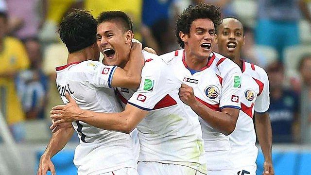 Сенсація ЧС-2014: Коста-Ріка виривається вперед від Англії, Італії та Уругваю